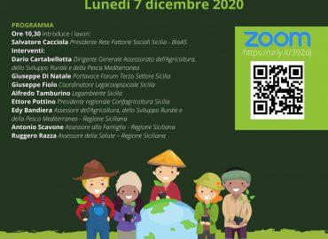 """7 dicembre, webinar """"Aziende agricole aperte al territorio"""""""