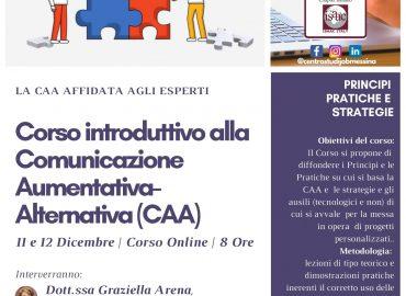 11 e 12 dicembre, Corso introduttivo alla Comunicazione Aumentativa-Alternativa