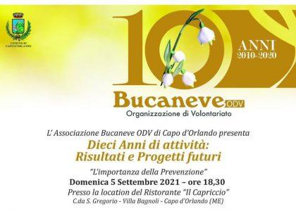 10 anni dell'associazione Bucaneve di Capo d'Orlando