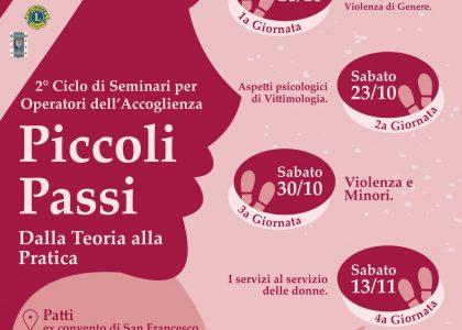 Contrasto alla violenza di genere, seminario a Patti dal prossimo 16 ottobre